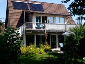 Ferienhaus Sehestedt Südansicht Balkon